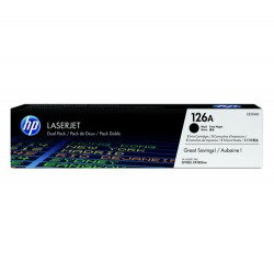 HP 126A Black Dual Pk LJ Toner Cartridge   CE310AD