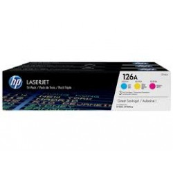 HP 126A CYM Tri-Pack LJ Toner Cartridge  CF341A
