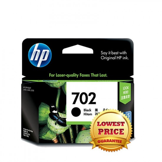 HP 702 Black Inkjet Print Cartridge CC660AA