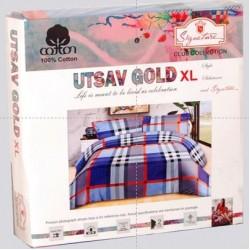 Utsav Gold XL  Bedsheet