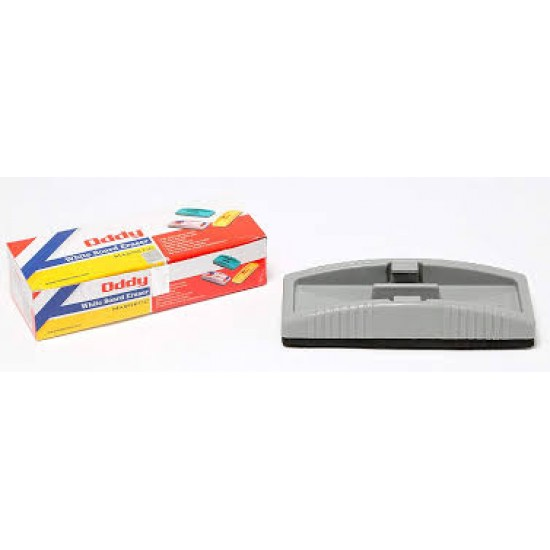 White Board Eraser Magnetic (With 2 Pen Holding Mould)